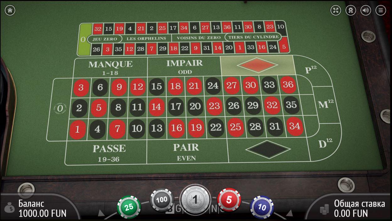 французская рулетка в онлайн казино